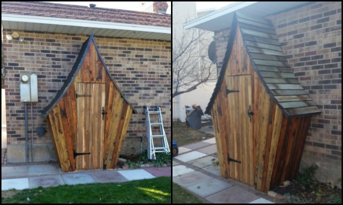 Build a whimsical tool shed for your garden!
