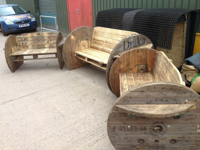 Wire Spool Bench