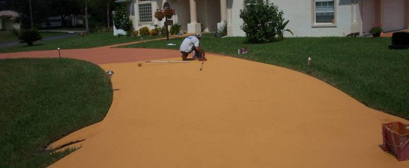 Modern concrete paints are durable, non-toxic and a cost effective way of dressing up an existing driveway.