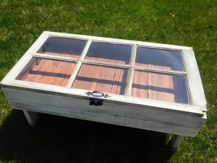 How To Turn An Old Window Into A Coffee Table