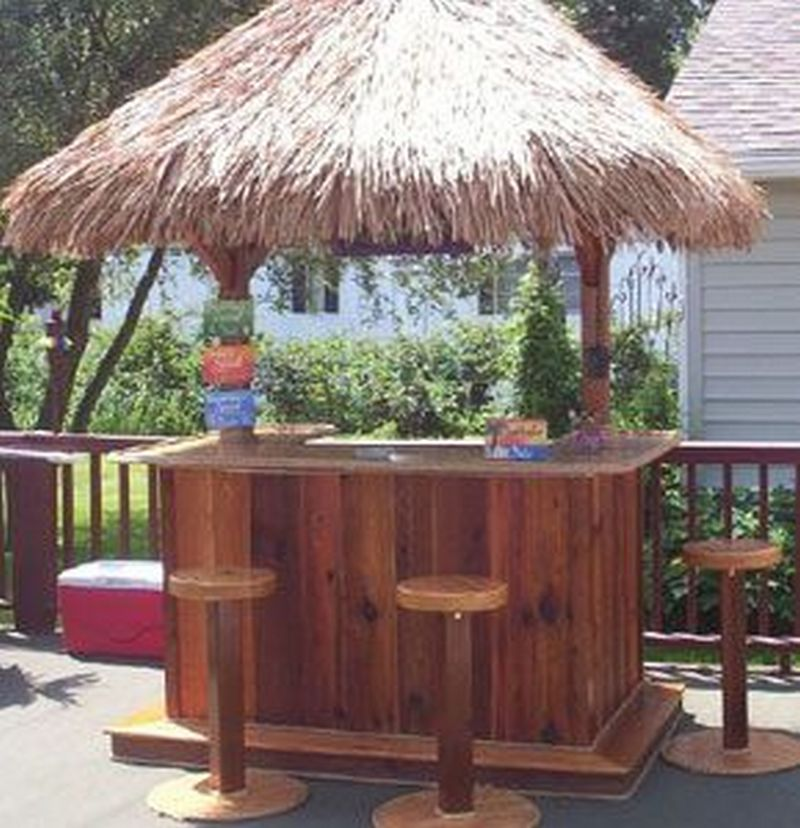 Build Your Own Backyard Tiki Bar | Your Projects@OBN on Tiki Bar Designs For Backyard id=15210