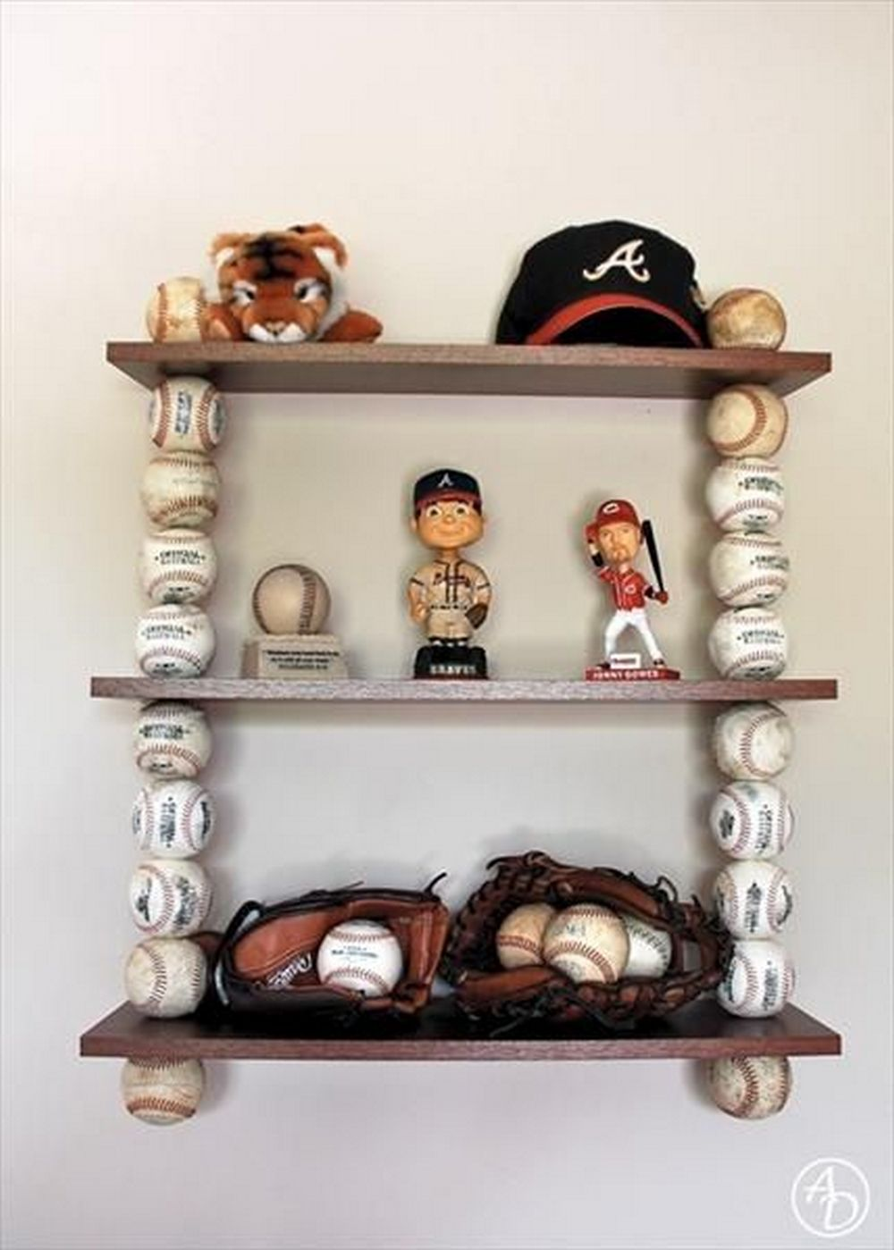 How to Build a Shelf From Baseball