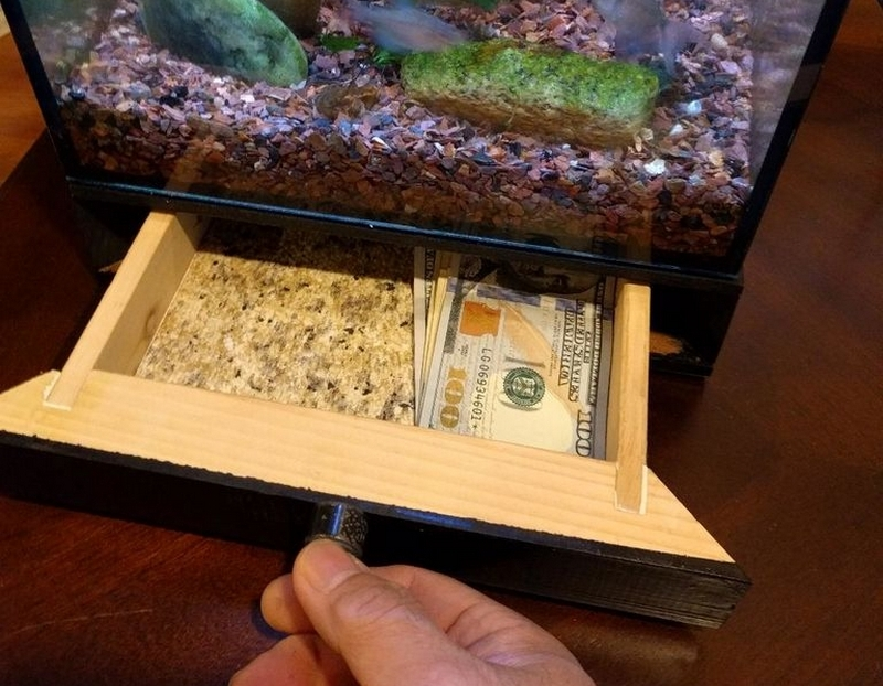 Use this secret hiding place to store money or items you wouldn't want other people to see.