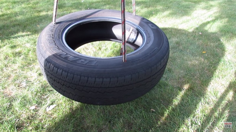 Got a spare tire lying around? Turn that tire into a swing!