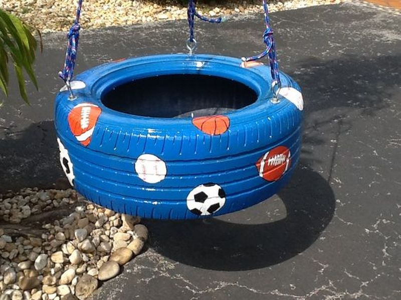 How to Turn a Tire Into a Swing