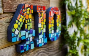 DIY Mosaic House Numbers