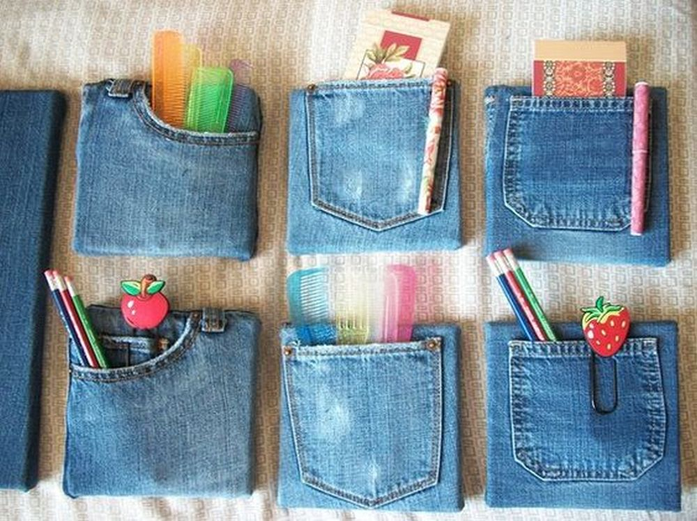 How to Make Denim Pocket Organizer