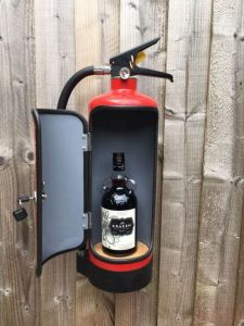 DIY Fire Extinguisher Mini Bar