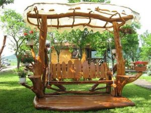 Build Your Own Rustic Wooden Swing Chair
