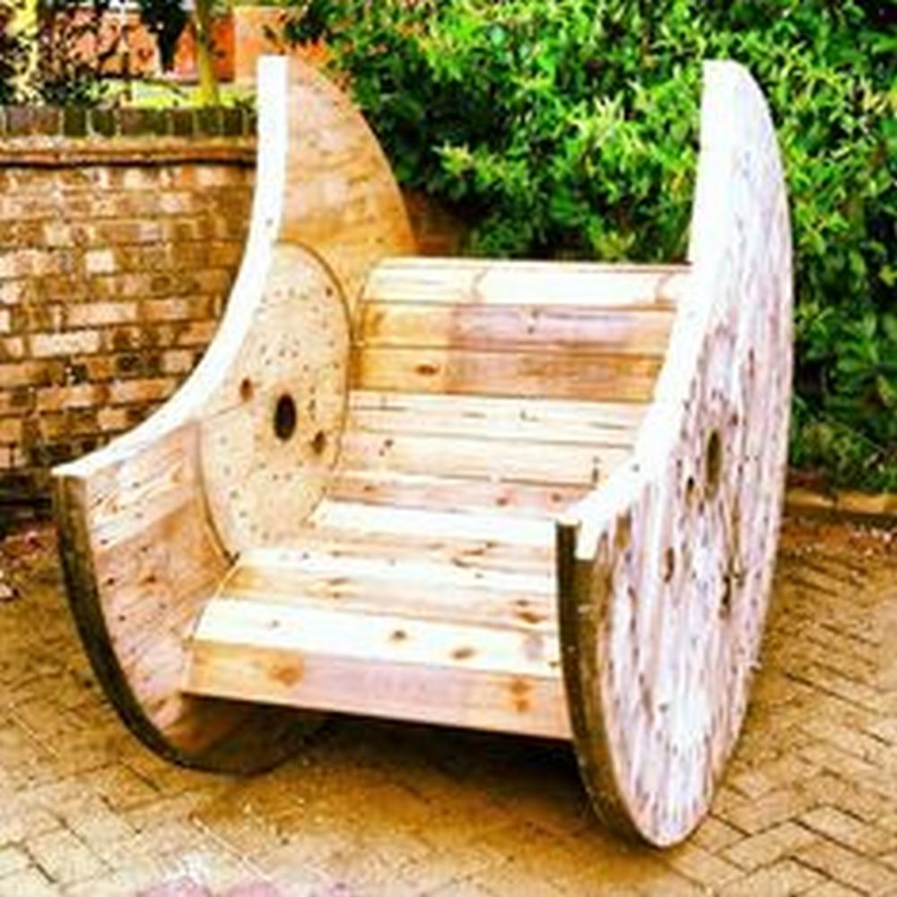 Turn a Cable Spool into a Rocking Chair