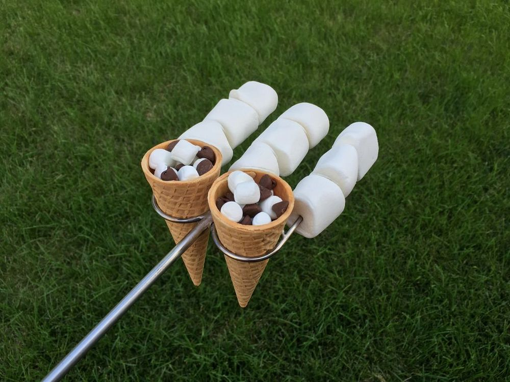 How to Make Campfire Smores Cone Forks