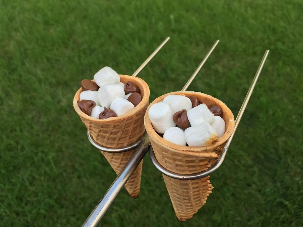 Make these smores cone forks for your next smores session!