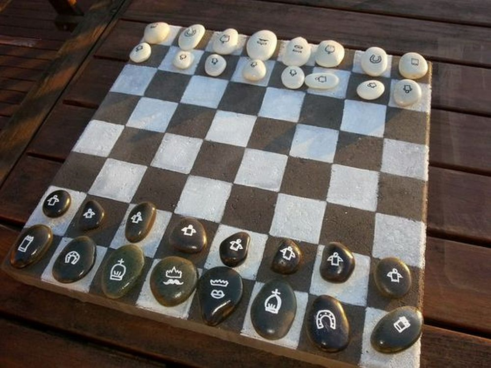 DIY Garden Chess Board