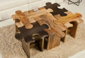 How to Build Puzzle Coffee Table or Stool