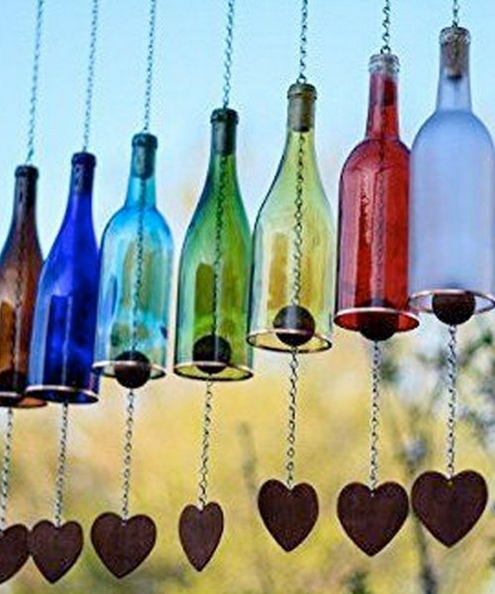 Make Your Own Wine Bottle Wind Chime