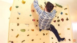 Build Your Own Indoor Climbing Wall