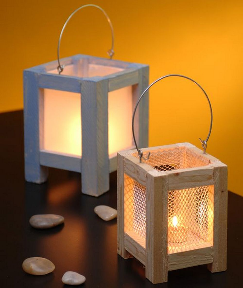 Simple and inexpensive, these DIY lantern candle holders would make lovely additions to any room.
