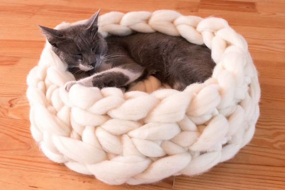 DIY Chunky Knitted Cat Bed | Your Projects@OBN