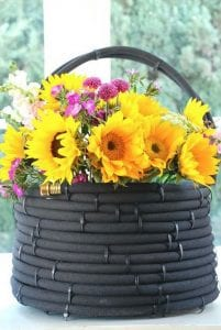 How to Turn Old Garden Hose Into a Basket