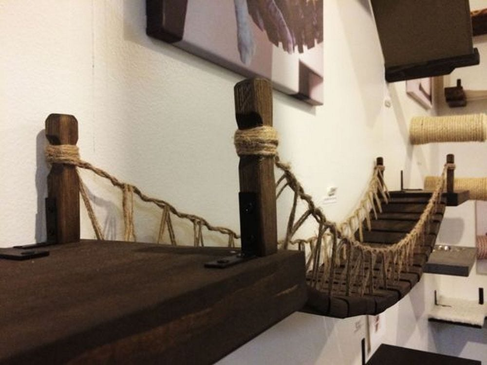 DIY Cat Rope Bridge