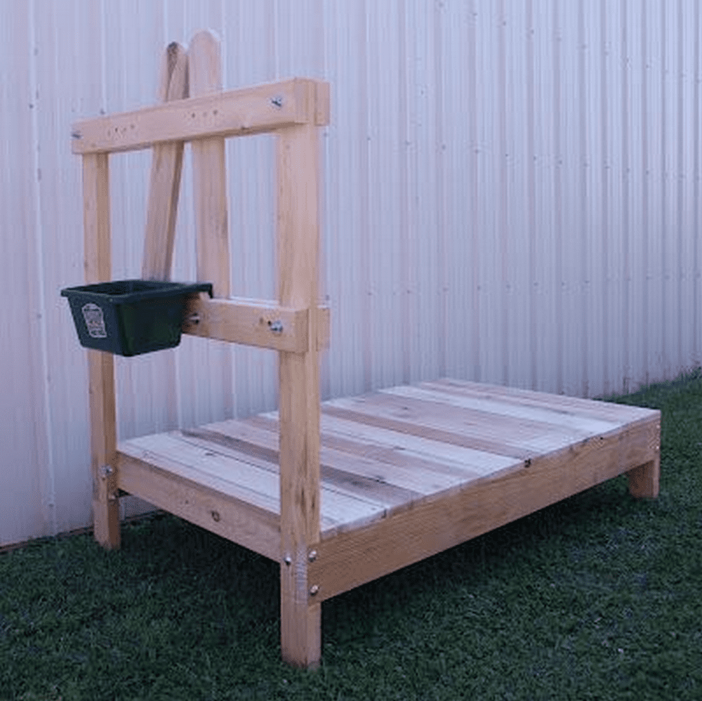 If you have spare pallets lying around, this won't even cost you $5!