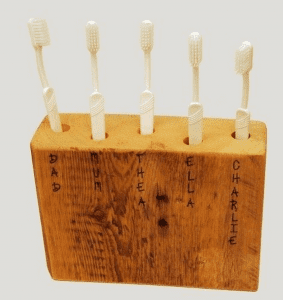 How to Build a Toothbrush Holder From Scrap Wood
