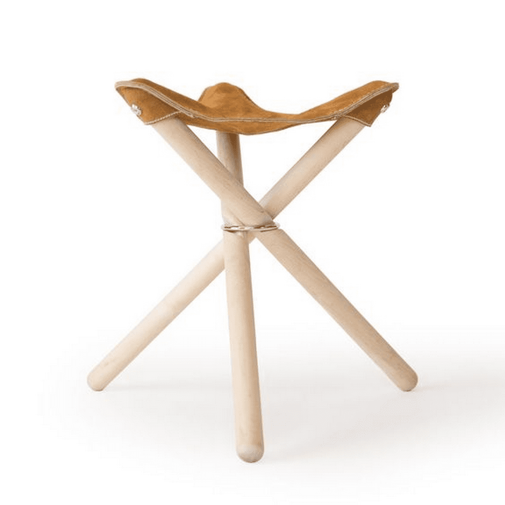 Now, you can camp in style in this DIY tripod camping stool.