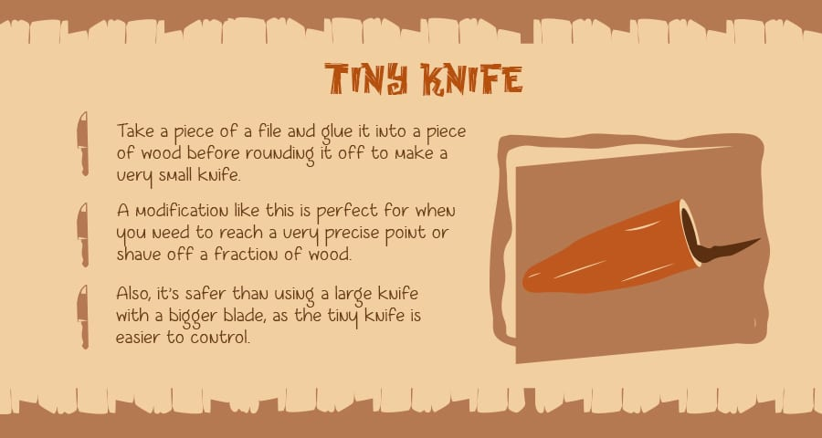 Make yourself a tiny woodworking knife