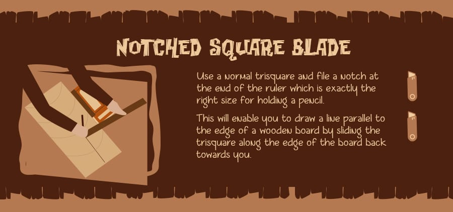 A notched trisquare can help with your cut lines...