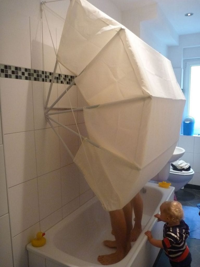 Shower curtain with a twist...