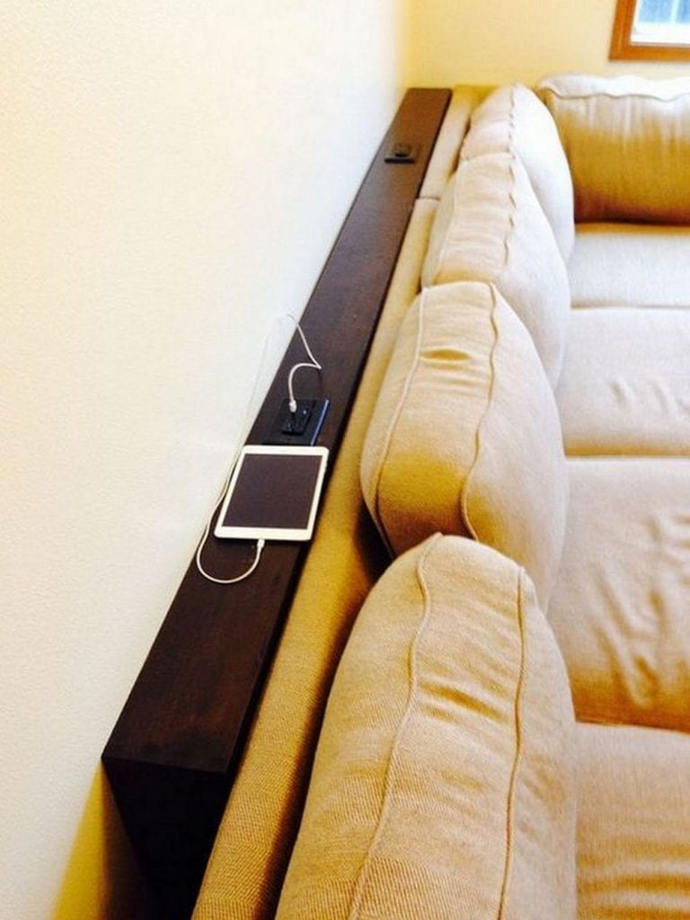 This behind sofa table is not just stylish; it's super functional, too!