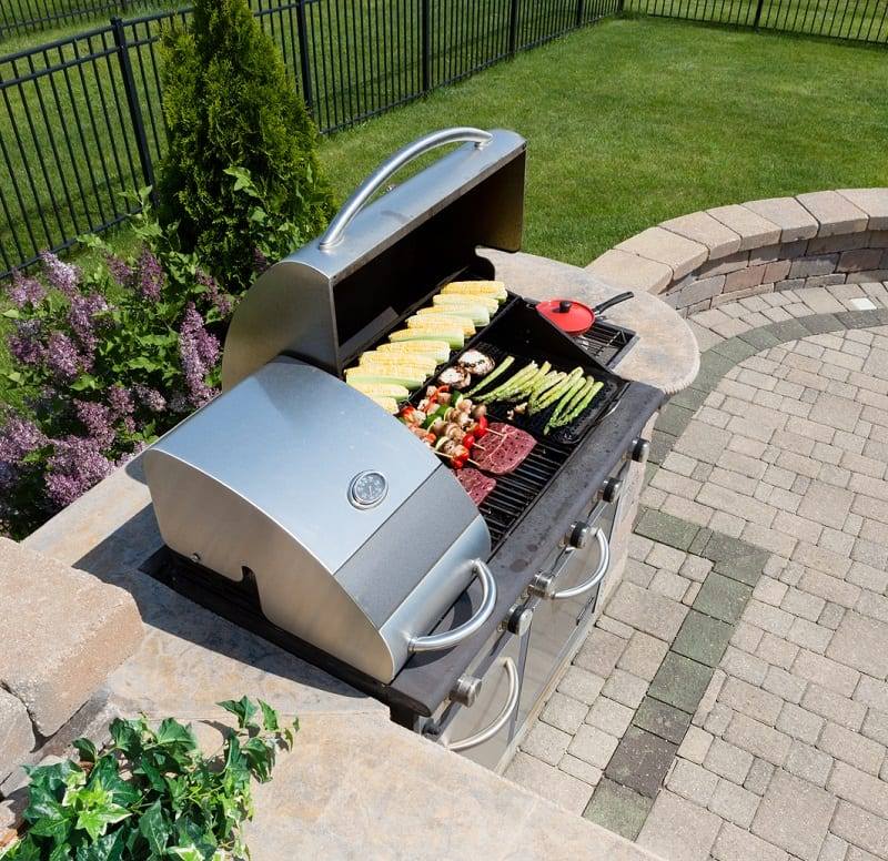 Gas grills will cost the most, ranging upwards of $4,000 for a high-end model.