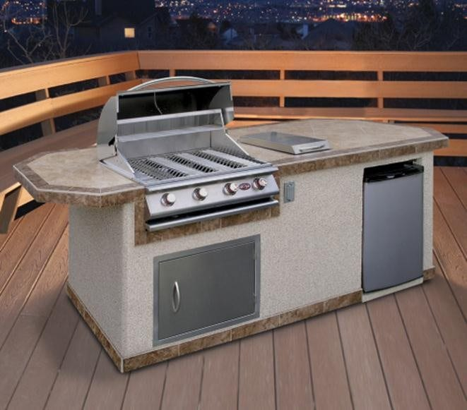 Prefabricated outdoor grill islands are another money-saving option.
